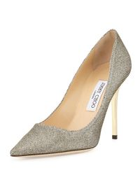 Jimmy Choo | Metallic Abel Glitter Pointed Pump | Lyst