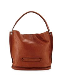 Longchamp - Brown 3d Leather Hobo Bag - Lyst