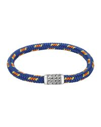 John Hardy - Blue Men's Classic Chain Multicolor Cord Bracelet for Men - Lyst