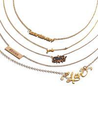 Shy By Sydney Evan - Metallic Gold Yolo Pendant Bezel Diamond Necklace - Lyst