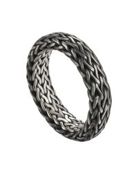 John Hardy | Metallic Men's Classic Chain Band Ring | Lyst