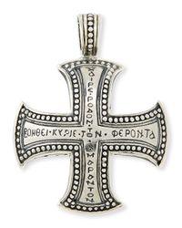 Konstantino | Metallic Men's Dare Sterling Silver Cross Pendant | Lyst