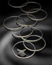 Lagos | Metallic Sterling Silver & 18k Enso Bangle | Lyst