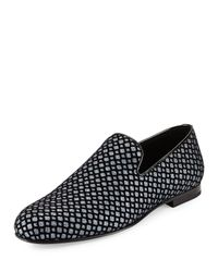 Jimmy Choo | Black Sloane Glittered Fabric Loafer for Men | Lyst