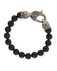 Stephen Webster - Black Matte Beaded Bracelet for Men - Lyst