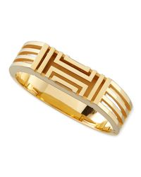 Tory Burch | Metallic Gold-plated Fitbit-case Bracelet | Lyst