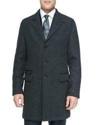 Ermenegildo Zegna | Black Single-breasted Overcoat for Men | Lyst