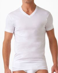 2xist | White Pima Cotton V-neck T-shirt for Men | Lyst