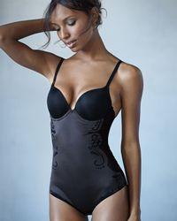 Spanx | Black Haute Contour Deco Bodysuit | Lyst