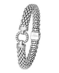 Lagos   Metallic Enso Diamond Caviar Bracelet   Lyst