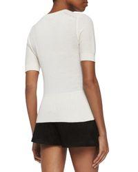 Rag & Bone - White Whitney Short-sleeve Cashmere Top - Lyst