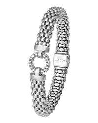 Lagos | Metallic Enso Diamond Caviar Rope Bracelet | Lyst
