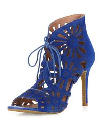 Joie | Blue Paxton Cut-Out Suede Sandal | Lyst