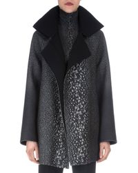 Akris - Gray Way-print Raglan-sleeve Coat - Lyst