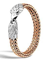 John Hardy   Metallic Men's Silver/bronze Eagle Head Chain Bracelet for Men   Lyst
