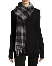 Marc By Marc Jacobs - Black Blanket Plaid Knit Scarf - Lyst