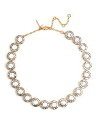 Lele Sadoughi | White Token Crystal Collar Necklace | Lyst