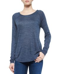 Vince | Blue Space-dye Crewneck Sweater | Lyst