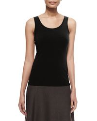 NIC+ZOE - Black Perfect Jersey Scoop-neck Tank - Lyst