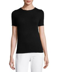 Theory - Black Tolleree Short-sleeve Cashmere Sweater - Lyst