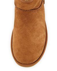 UGG | Black Mini Classic Sheepskin Boot | Lyst