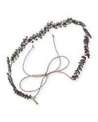 Jennifer Behr | Gray Vine Circlet Crystal Headband | Lyst