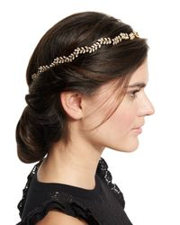 Jennifer Behr | Gray Vine Circlet Crystal Headband | Lyst