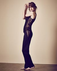 La Perla - Black Iris Lace Pajama Bottom - Lyst