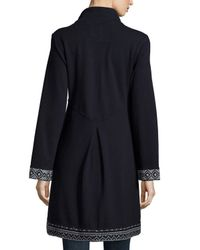 Johnny Was - Blue Joy Embroidered Military Coat - Lyst