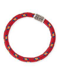 John Hardy - Red Men's Classic Chain Multicolor Cord Bracelet for Men - Lyst