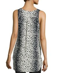 VINCE | Brown Leopard-print V-neck Top | Lyst