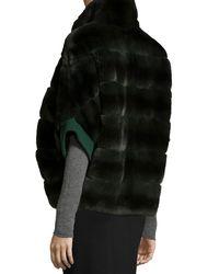 Gorski - Gray Rabbit Fur Zip-Front Jacket - Lyst