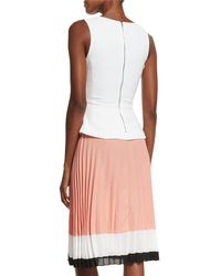 Altuzarra - Pink Sleeveless Colorblock Pleated-skirt Dress - Lyst