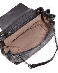 Bottega Veneta - Gray Small Madras Intrecciato Flap Shoulder Bag - Lyst