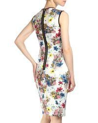 Erdem - White Maura Floral-print Sheath Dress - Lyst