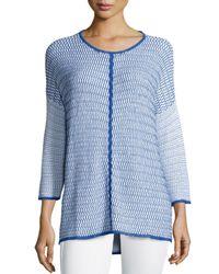 Belford   Blue Long-sleeve Oversized Pullover W/ Trim   Lyst