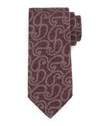 Ermenegildo Zegna - Purple Heathered Paisley-print Tie for Men - Lyst