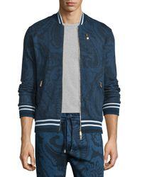 Etro | Blue Tonal Paisley-print Zip Track Jacket for Men | Lyst