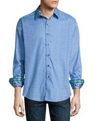 Robert Graham   Blue Ocean Liners Check Sport Shirt for Men   Lyst