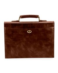Stefano Ricci - Brown Leather Flap Briefcase for Men - Lyst