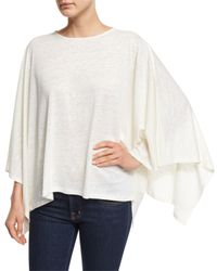 Neiman Marcus | White Linen-blend Poncho | Lyst