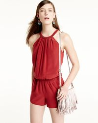 Joie - Red Nasiba Silk Halter Jumpsuit - Lyst