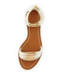 Tory Burch - White Mignon Braided Flat Sandal - Lyst