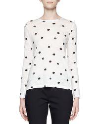 Proenza Schouler | Black Long-sleeve Dot-print T-shirt | Lyst