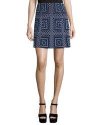 Nanette Lepore | Black Patchwork A-line Mini Skirt | Lyst