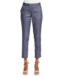 Theory | Blue Northsound Tierra Washed Denim Pants | Lyst