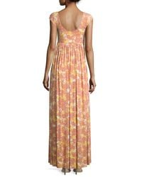Rachel Pally - Multicolor Isa Cap-sleeve Printed Long Dress - Lyst