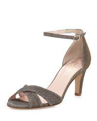 kate spade new york | Metallic Eleanora Shimmery Crisscross Sandal | Lyst