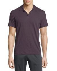 Theory | Purple Willem Johnny-collar Short-sleeve Polo Shirt for Men | Lyst