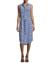 Equipment - Blue Tegan Sleeveless Shirtdress - Lyst